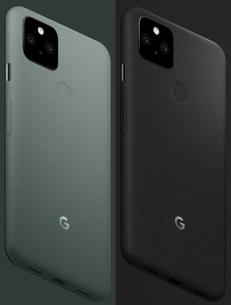 Pixel 5 Just Black and Sorta Sage
